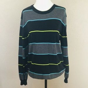 Element Striped Long Sleeve Sweater-Large